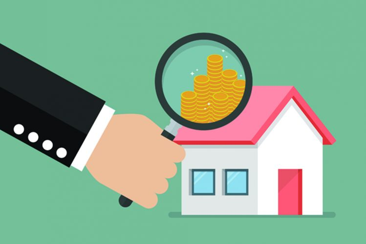 Money profit from real estate. Business concept